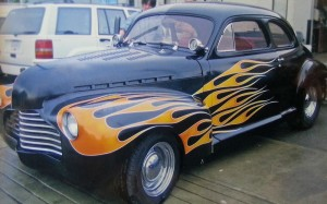 1946 Chevy Black Flames