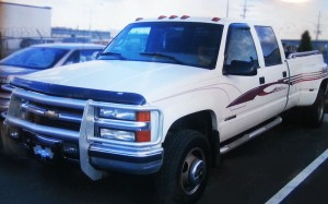 1998 Chevy Silverado 3500 Dually White