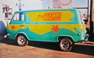 The Scooby Doo  Mystery machine!
