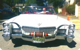 1968 White Cadillac Bull Horns