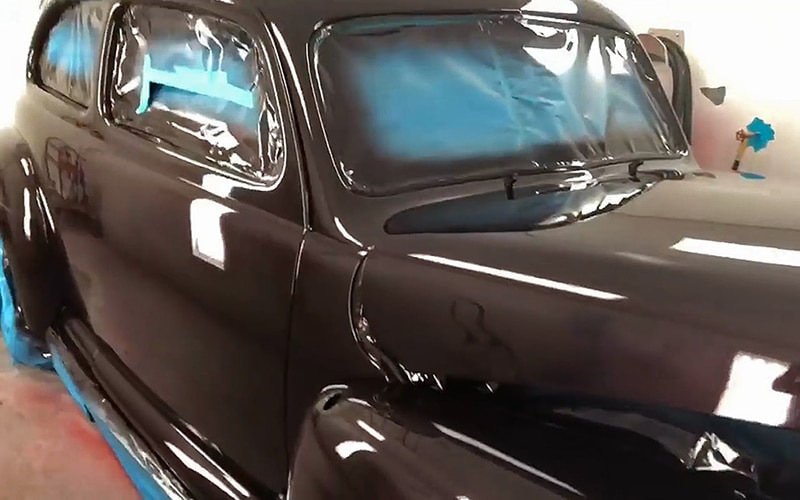 1941 Ford Dark Cherry Classic Car Restoration Project