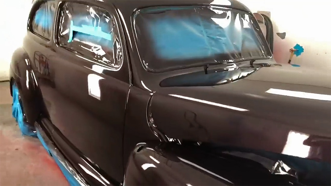 1941 Ford Dark Cherry Classic Car Restoration