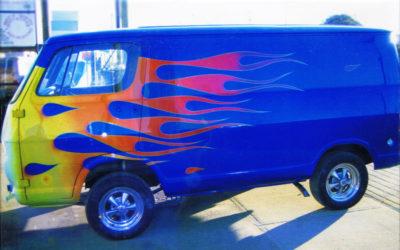 1964 Show Van Blue Flames