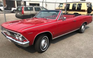 1966 Red Pontiac Beaumont Painted Polished