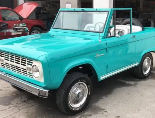 1966 Teal Ford Bronco Restoration