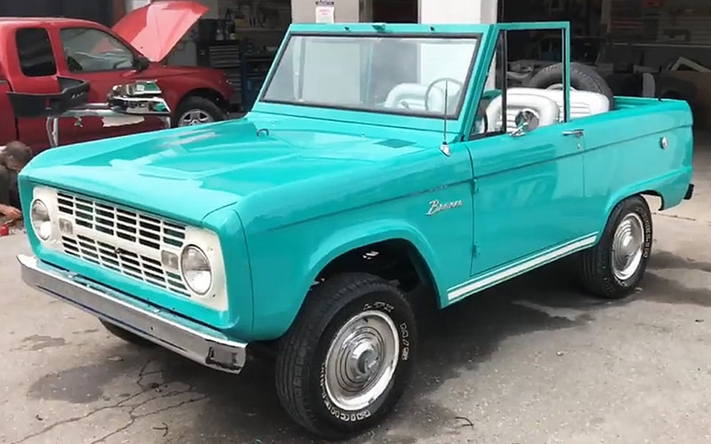 1966 Teal Ford Bronco Restoration Project