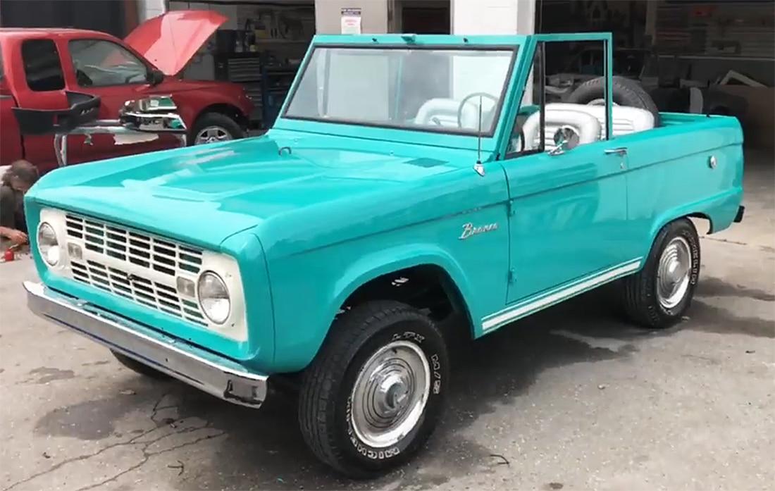 1966 Teal Ford Bronco Restoration