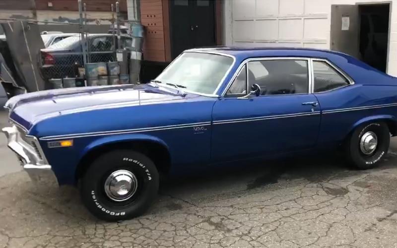 1969 Chevy Nova Blue Restoration