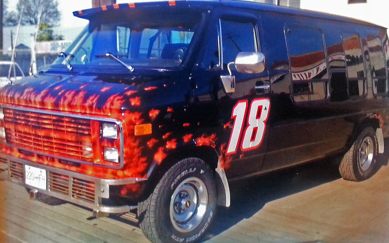 1984 Chevy Van Flames