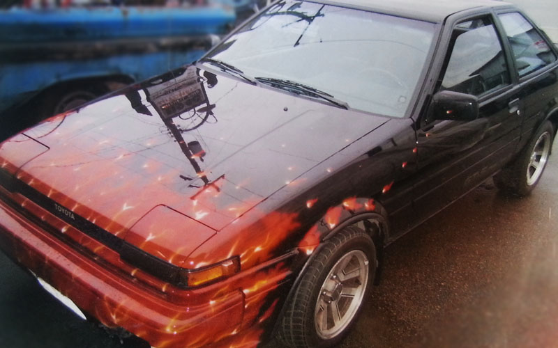 1986 Corolla Gt S Flamed